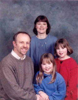 Mrs Julie Wilson and her family